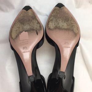 Prada Shoes - Prada Patent Leather Ankle Strap Wedge